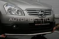 "Защита переднего бампера d42 ""труба"" на Nissan Qashqai +2 (2010 -) СОЮЗ-96 NQSH.48.0939"