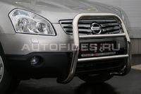 Решетка передняя мини d60 высокая на Nissan Qashqai +2 (2010 -) СОЮЗ-96 NQSH.55.0937