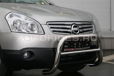Решетка передняя мини d60 низкая на Nissan Qashqai +2 (2010 -) СОЮЗ-96 NQSH.56.0938