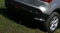 Защита задняя «уголки» d60 на Nissan Qashqai +2 (2010 -) СОЮЗ-96 NQSH.76.0945