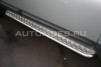 Пороги с листом d42 на Nissan Qashqai +2 (2010 -) СОЮЗ-96 NQSH.82.0942
