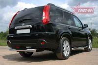 """Защита задняя """"ступень"""" d76 на Nissan X-Trail (2011 -) СОЮЗ-96 NXTR.75.1295"""