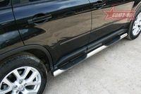 Пороги с проступью d76 на Nissan X-Trail (2011 -) СОЮЗ-96 NXTR.81.1293