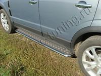 Пороги с площадкой 42,4 мм на Opel Antara (2012 -) ТСС OPANT12-03