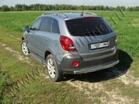 Защита задняя (центральная овальная) 75х42 мм на Opel Antara (2012 -) ТСС OPANT12-06
