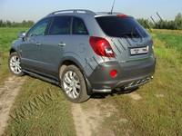 """Защита задняя """"уголки"""" 60,3 мм на Opel Antara (2012 -) ТСС OPANT12-08"""