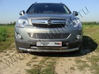 Решётка радиатора 12 мм на Opel Antara (2012 -) ТСС OPANT12-09