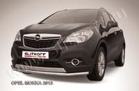 Защита переднего бампера d57 длинная для Opel Mokka (2012 -) Слиткофф OPMOK13-003