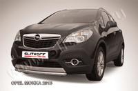 Защита переднего бампера d57 короткая для Opel Mokka (2012 -) Слиткофф OPMOK13-005