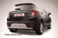 Защита заднего бампера d57 радиусная для Opel Mokka (2012 -) Слиткофф OPMOK13-011