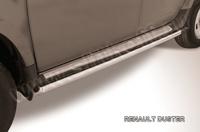 Пороги d57 труба для Renault Duster (2011 -) Слиткофф RD006