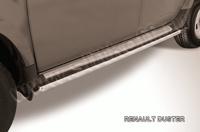 Пороги d42 труба для Renault Duster (2011 -) Слиткофф RD007