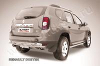 Защита заднего бампера d42+d42 двойная для Renault Duster (2011 -) Слиткофф RD009