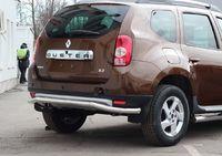 """Защита задняя """"волна"""" d60 на Renault Duster 4x4 (2011 -) СОЮЗ-96 RDUS.75.1450"""