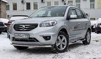 """Защита переднего бампера """"труба"""" d60 Premium на Renault Koleos (2012 -) СОЮЗ-96 RENK.48.1593"""