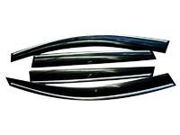 Дефлекторы окон для BMW 5 E60 Седан (2002 - 2010) SIM Dark Chrome SBMW5S0332-Cr