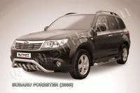 """Кенгурятник d57 """"мини"""" с защитой картера для Subaru Forester (2008 -) Слиткофф SF007"""