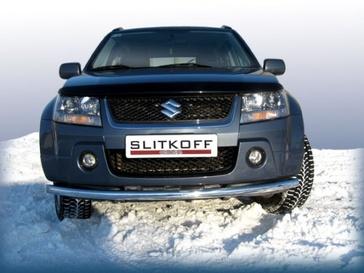 Защита переднего бампера d57 для Suzuki Grand Vitara 5D (2005 -) Слиткофф SGV05008