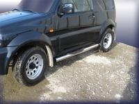 Пороги d76 с проступями для Suzuki Jimny (1998 -) Слиткофф SJ005