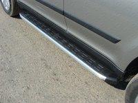 Пороги алюминиевые с пластиковой накладкой для Skoda Yeti (2014 -) ТСС SKOYET14-13