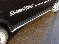 Пороги труба 60,3 мм для Ssang Yong Actyon (2014 -) ТСС SSANACT11-03-14