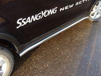 """Пороги """"труба"""" 60,3 мм на SsangYong Actyon (2011 -) ТСС SSANACT11-03"""