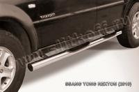 Пороги d76 с проступями для Ssang Yong Rexton (2007 -) Слиткофф SSR008