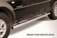 Пороги d76 труба для Ssang Yong Rexton (2007 -) Слиткофф SSR009