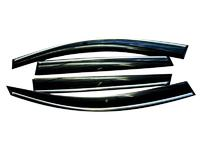 Дефлекторы окон для Toyota Camry 6 (2006 -) SIM Dark Chrome STOCAM0632-Cr