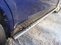 Пороги овальные с проступью 75х42 мм на Subaru Outback (2010 -) ТСС SUBOUT10-03