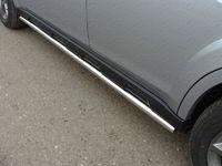 Пороги труба 50,8 мм для Subaru Outback (2014 -) ТСС SUBOUT14-03