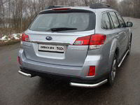 Защита задняя (уголки) 60,3 мм для Subaru Outback (2014 -) ТСС SUBOUT14-09