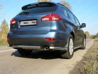 Защита задняя (уголки) d60,3 для Subaru Tribeca (2007 -) ТСС SUBTRIB-07