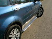 Пороги с площадкой (нерж. лист) 42,4 мм для Subaru Tribeca (2007 -) ТСС SUBTRIB-09