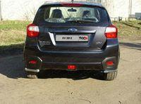 Защита задняя (уголки длинные) 42,4 мм на Subaru XV (2012 -) ТСС SUBXV12-03