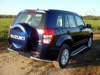 "Защита задняя ""уголки"" 60,3 мм на Suzuki Grand Vitara 5D (2012 -) ТСС SUZGV5D12-07"