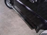 Пороги овальные с проступью 75?42 для Suzuki Jimny (1998 -) ТСС SUZJIM-02