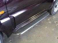 Пороги с площадкой (нерж. лист) 42,4 мм для Suzuki Jimny (1998 -) ТСС SUZJIM-03