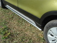 Пороги труба 42,4 мм для Suzuki SX4 (2014 -) ТСС SUZSX414-07
