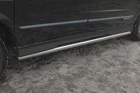 """Пороги """"труба"""" d60 на Ssang Yong Actyon Sports (2012 -) СОЮЗ-96 SYAS.80.1606"""