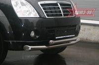 Защита переднего бампера d76/60 двойная на Ssang Yong Rexton (2007 -) СОЮЗ-96 SYRX.48.0520