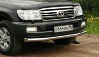 """Защита переднего бампера d76 """"труба"""" на Toyota LC 100 (1998 - 2007) СОЮЗ-96 TC10.48.0392"""