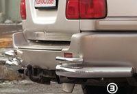 """Защита задняя """"уголки"""" d76 одинарные на Toyota LC 100 (1998 - 2007) СОЮЗ-96 TC10.76.0026"""