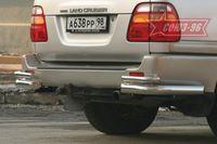 """Защита задняя """"уголки"""" d76 на Toyota LC 100 (1998 - 2007) СОЮЗ-96 TC10.76.0030"""