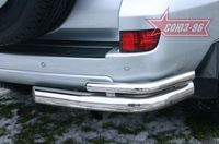 "Защита задняя ""правый уголок"" d76 на Toyota LC 120 Prado (2002 -) СОЮЗ-96 TC12.76.0042Right"