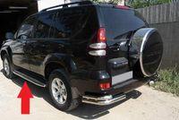 Защита штатного порога d42 на Toyota LC 120 Prado (2002 -) СОЮЗ-96 TC12.86.0034