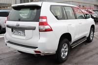 Защита задняя уголки 75х42 овальные для Toyota Land Cruiser Prado 150 (2013 -) СОЮЗ-96 TC15.76.1918 (Эксклюзив TMR)