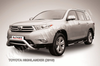 """Кенгурятник d76 низкий """"мини"""" для Toyota Highlander (2010 -) Слиткофф THI001"""