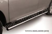 Пороги d76 труба для Toyota Highlander (2010 -) Слиткофф THI009