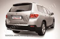 Защита заднего бампера d57 радиусная для Toyota Highlander (2010 -) Слиткофф THI013